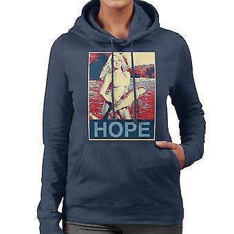 Camiseta de encapuchados esperanza Bikini niña Pastor Fairey estilo mujeres de pesca