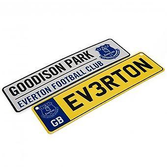 Everton fönster & kylskåp tecken Set