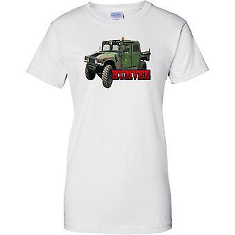 Humvee - US Army panssaroitu ajoneuvo - naisten T-paita