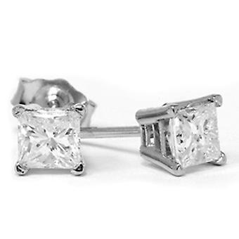 3 / 4ct алмазов шпильки 14K Белое золото