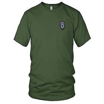 US Army Forces spéciales - 12ème groupe Crest OD vert bleu Patch brodé 12 - Mens T Shirt