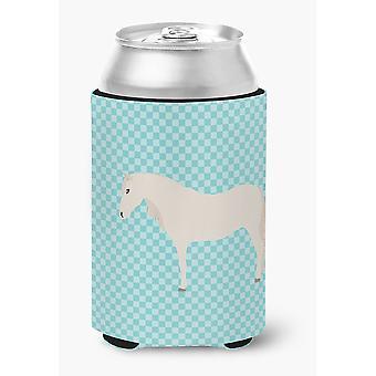 Carolines Treasures  BB8079CC Paso Fino Horse Blue Check Can or Bottle Hugger
