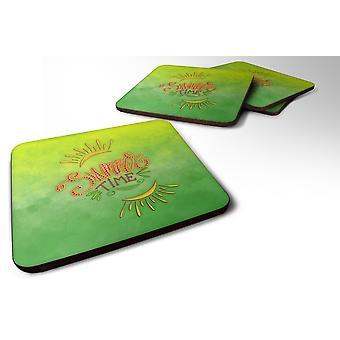Carolines Treasures  BB7453FC Set of 4 Summer Time Foam Coasters Set of 4