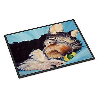 Naptime Yorkie يوركشاير الكلب الأماكن المغلقة أو في الهواء الطلق حصيرة 18 × 27