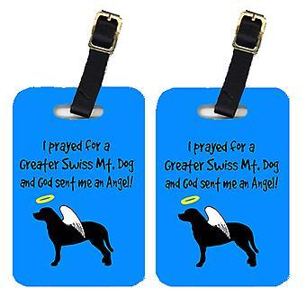 Carolines Schätze AN1082BT paar 2 größere Swiss Mountain Dog-Kofferanhänger