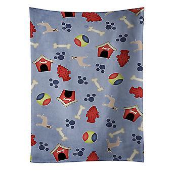 Pies dom kolekcji płowy przycięte Ręcznik kuchenny dogiem