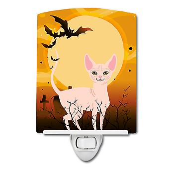 Carolines Treasures  BB4457CNL Halloween Sphynx Cat Ceramic Night Light