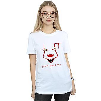 It Women's Pennywise Float Boyfriend Fit T-Shirt