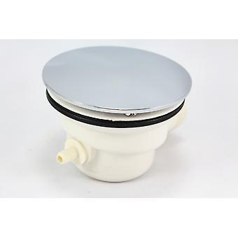 فخ استنزاف النفايات دش بلاستيك مع غطاء كروم مع أنبوب البخار حنفية-85 ملم