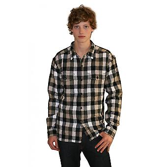 Diesel Mens L/s Plaid Shirt
