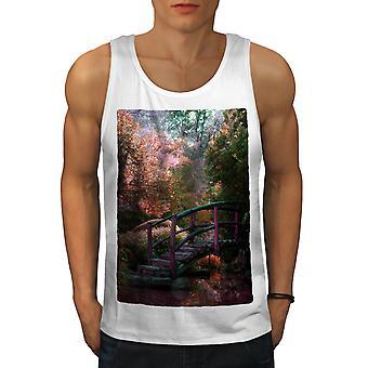 Fantasy Forest Art hommes WhiteTank Top | Wellcoda