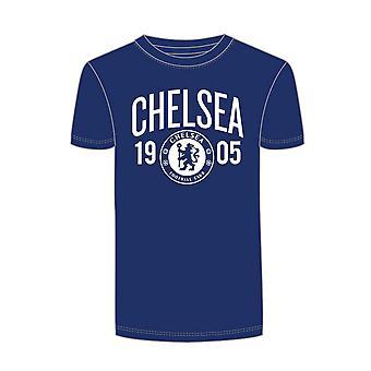 Chelsea FC Mens offiziell gegründet Fußball Crest T-Shirt