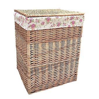 Gran luz al vapor cuadrado cestas de lavadero con jardín rosa de la guarnición