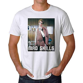 Napoleon Dynamite Mad Skills Suit Men's White Funny T-shirt