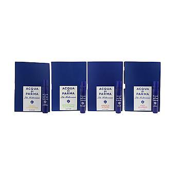 Kolekce Acqua Di Parma ' Blu Středozemí ' EDT 4 X 0,05 oz/1,2 ml nádobky na kartu