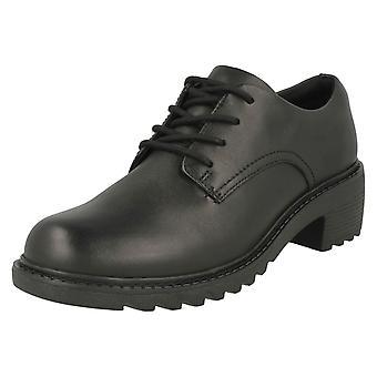 Girls Clarks Chunky Heeled School Shoes Frankie Grove