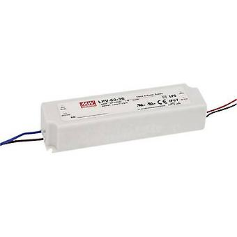 Mean Well LPV-60-5 LED transformer Constant voltage 40 W 0 - 8 A 5 V DC not dimmable, Surge protection
