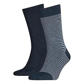 Tommy Hilfiger rayé chaussettes 2-Pack - Jeans