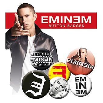 Oficjalny Eminem Badge Pack Logo kamikaze Recovery New 4x 25mm & 2x 32mm