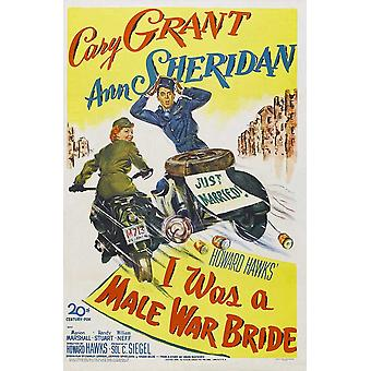 I Was a Male War Bride Movie Poster (11 x 17)