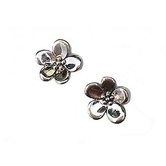 Cavendish French Sterling Silver Single Forget-Me-Not Earrings