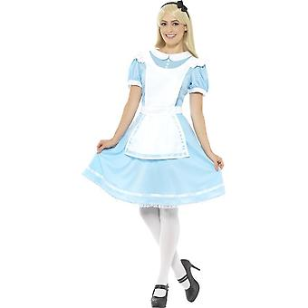 Wonder princezna kostým, modrá, s oblečte, zástěrkou & hlavový pásek