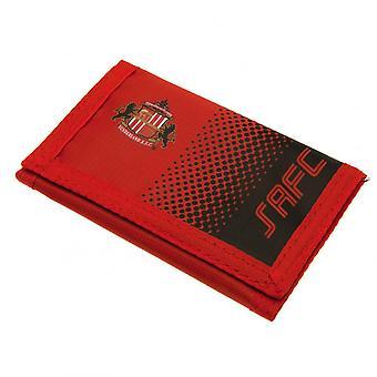 Sunderland AFC Touch Fastening Fade Design Nylon Wallet