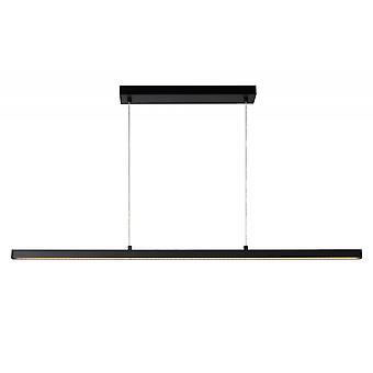 Lucide Sigma moderna hörnet-formad aluminium svart hänge ljus