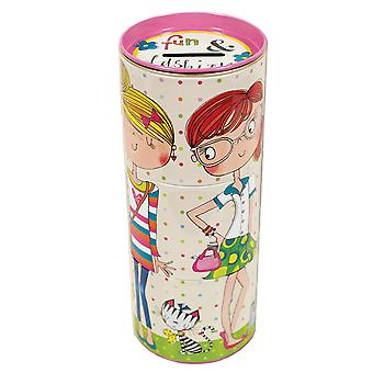 Girls fun colourful tin money box