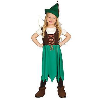 Girls Robin Hood Archer Fancy Dress Costume