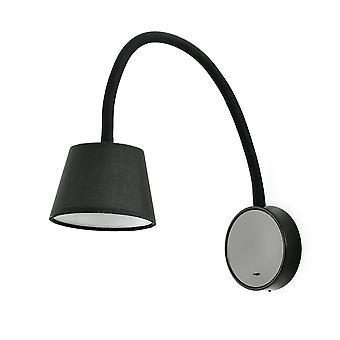 Faro - Blome Schwarz LED-Wand-Lampe FARO62100