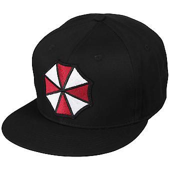 Capcom Mens Resident Evil Umbrella Corp Logo T-Shirt-zwart