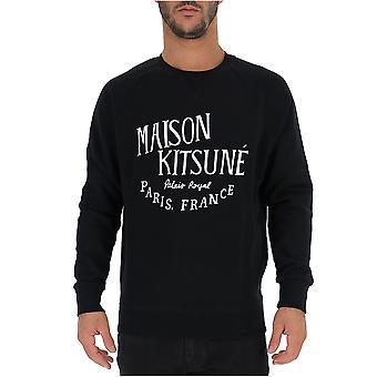 Maison Kitsuné Am00300at1503black Men's Black Cotton Sweatshirt