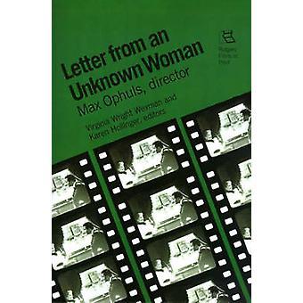 Carta de un desconocida Max Ophuls Director por Wexman y Virginia
