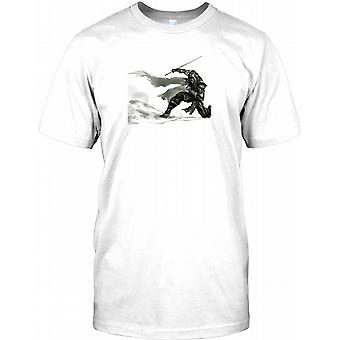 Samurai Ninja sværdkæmper - Bushido Herre T-shirt