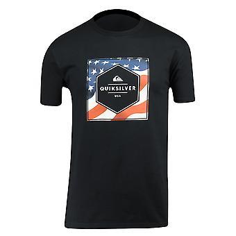 Quiksilver Herren Sterne & Streifen T-Shirt-schwarz