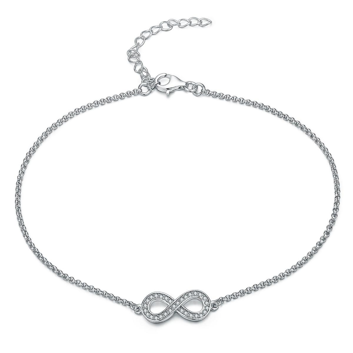 Sterling Silver Anklet Simple Infinity Style
