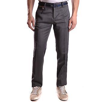Frankie Morello Ezbc167047 Men's Grey Wool Pants