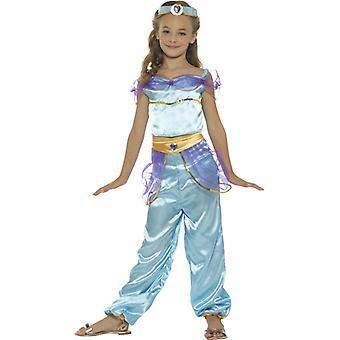 Arabische Prinzessin Kostüm Kinder mit Top Hose und Kopfschmuck 1001 Nacht Kinderkostüm