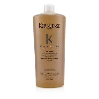 Kerastase elixir Ultime Le Bain sublimação Oil infundido shampoo (cabelo maçante)-1000ml/34oz