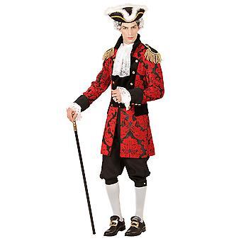 Red Jacquard Parade Coat
