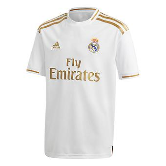 adidas Real Madrid 2019/20 Kids Home Football Shirt Jersey White/Gold