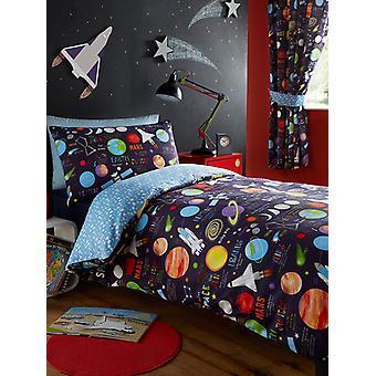 Planeten einzelne Bettbezug und Kissenbezug Set