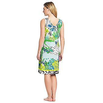 Féraud 3195324-16526 Women's Voyage Sealeaves Blue Kaftan Beach Dress