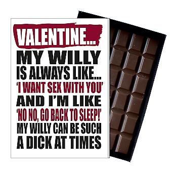 Funny Valentines Day Gift A Rude Naughty Present for Women Chocolate Card IYF154
