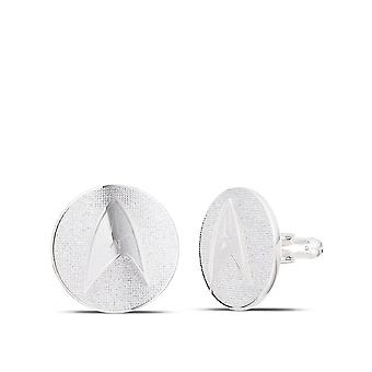 Star Trek Cuff Links In Sterling Silver Design by BIXLER