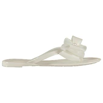 Miso Womens Jelly Bow Design Slip On Outdoors Summer Shoes Sandals