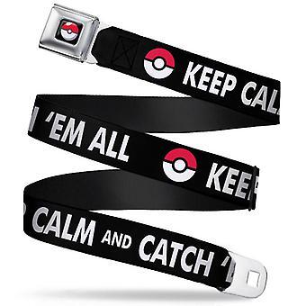 Seatbelt Belt - Pokemon - V.64 Adj 24-38' Mesh New pka-wpk098