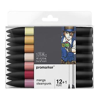 Winsor & Newton Promarker 12 + 1 sistema de Manga Steampunk