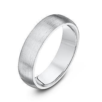 Star Wedding Rings Palladium 500 Heavy D Matt Finish 6mm Wedding Ring